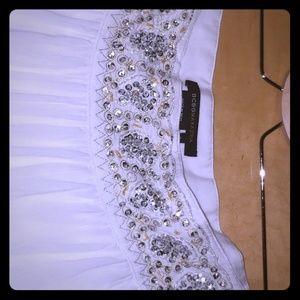 Maxi BCBG white skirt